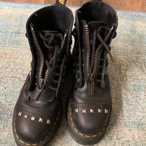 Dr. Martens. Super cool boot. Studded and Zipper.